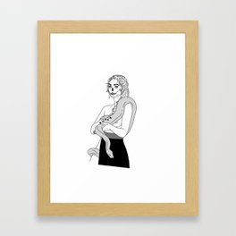 Serpent Skin Framed Art Print