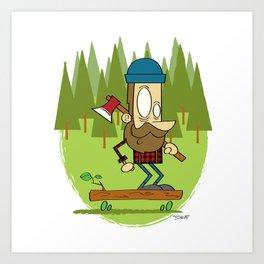 Lumber Jack Sk8er Art Print