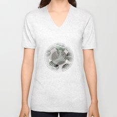 Zentangle and Tree Motifs in Circles Unisex V-Neck