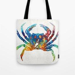 Colorful Crab Art by Sharon Cummings Tote Bag
