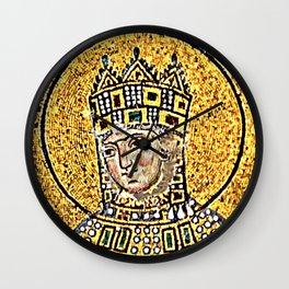 Zoe, detail of The Empress Zoe mosaics (11th-century) in Hagia Sophia (Istanbul, Turkey Wall Clock