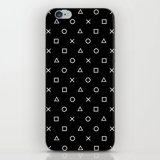 Gamer Pattern (White on Black) by xooxoo