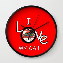 I Love My Cat Wall Clock