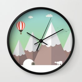 Flat view Wall Clock