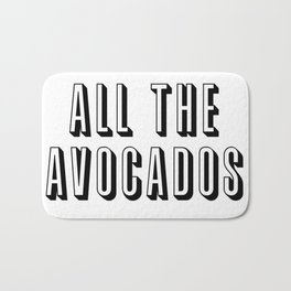 All The Avocados Bath Mat