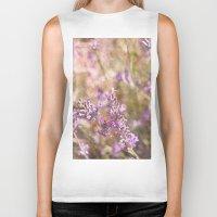 lavender Biker Tanks featuring Lavender by Tina Sieben