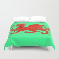 drunk Duvet Covers featuring Drunk Dragon by SimplyMrHill