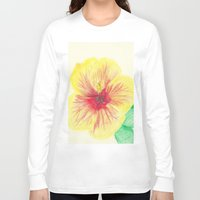 hibiscus Long Sleeve T-shirts featuring Hibiscus by merialayne