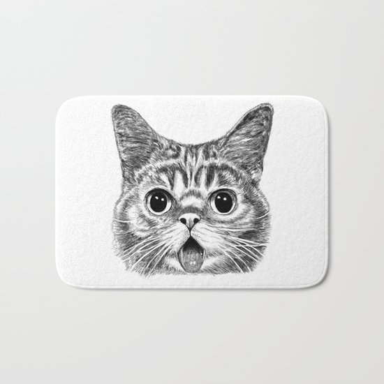 Tongue Out Cat Bath Mat