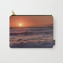 Beautiful Waves At Sunset. Carry-All Pouch