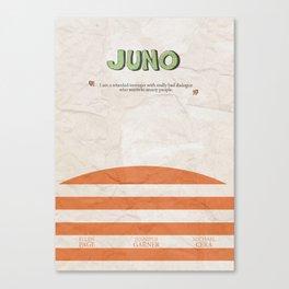 Juno - Alternative Movie Poster, classic movie, funny movie, minimal movie poster Canvas Print