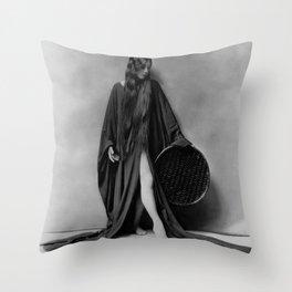 Dancer Olive Anne Alcorn black and white photograph / black and white art photography Throw Pillow