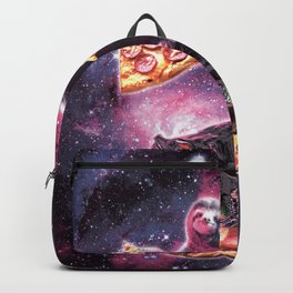 Space Sloth With Pizza On Turtle Riding Pizza Backpack