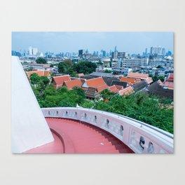 View of Bangkok from Wat Saket (Temple of the Golden Mount), Bangkok, Thailand Canvas Print