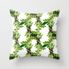 Blueberry Branch in Spring Throw Pillow