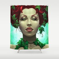 poison ivy Shower Curtains featuring Poison by Claudia SGI