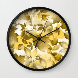 Watercolor Autumn Leaves 10 Wall Clock
