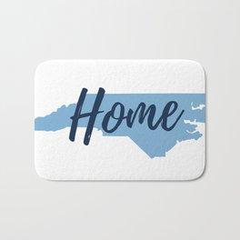 North Carolina Home State Map Print Bath Mat