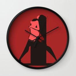 sensual woman in red scene Wall Clock