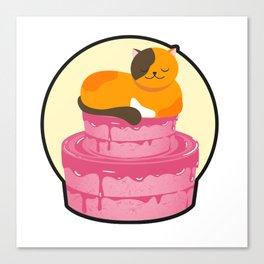 Cake cat furniture Design by diegoramonart Canvas Print