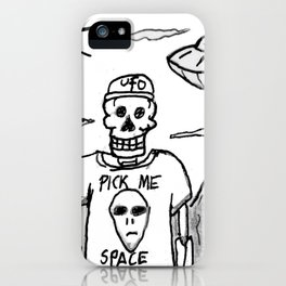 J Edgar Moonguts Sr. Dried Up in The Desert Waiting For Them To Come. iPhone Case