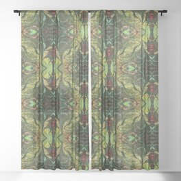 Marooned Symmetrical Abstract Sheer Curtain