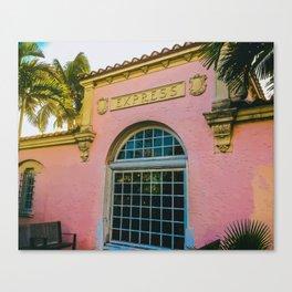 Train Station Tropicale Canvas Print