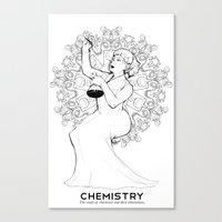 chemistry Canvas Prints featuring Chemistry by Verdant Winter