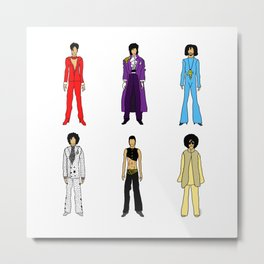 Purple Power Outfits Metal Print