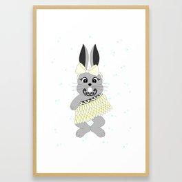 Miss Rapeti (lemon) Framed Art Print