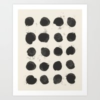 Two / Cream Art Print