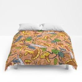 Autumn dreams of mushroom crime Comforters