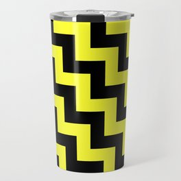 Black and Electric Yellow Steps LTR Travel Mug