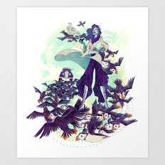 The Blue Wind Art Print