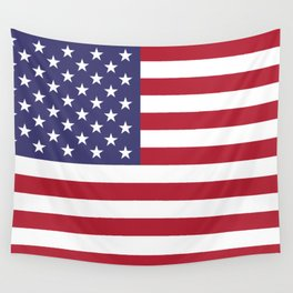 USA flag - Hi Def Authentic color & scale image Wall Tapestry