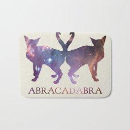 Abracadabra Twin Cats - dark Bath Mat