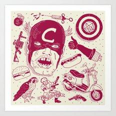 Craptain America Art Print
