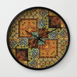 Patchwork Pattern Wall Clock