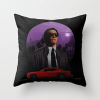 nightcrawler Throw Pillows featuring Nightcrawler by Ash Reynolds
