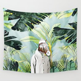 MR.Horse in the jungle Wall Tapestry