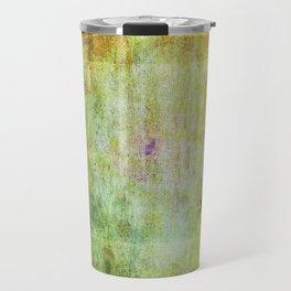 Abstract Grunge Scratchy Dark Yellows Travel Mug