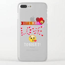 Lets Make Love Tonight Emoji Clear iPhone Case