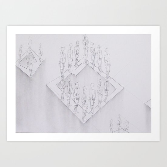 Whiteout II Art Print