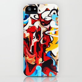Expressive Abstract People Music Composition painting iPhone Case