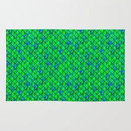 Green Blue Scales Rug