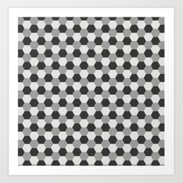 Honeycomb pattern Art Print