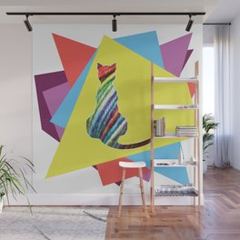 Electric Cat Wall Mural
