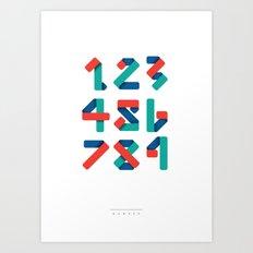 Number Art Print