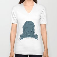 bad wolf V-neck T-shirts featuring Bad Wolf by AmdyDesign