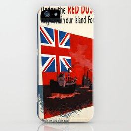 Vintage poster - Under the Red Duster iPhone Case
